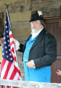 """Michael Henningsen performing the """"Star Spangled Banner"""" during Fairview's opening, July 23, 2015."""