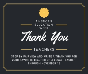 AEW Teachers Thank You